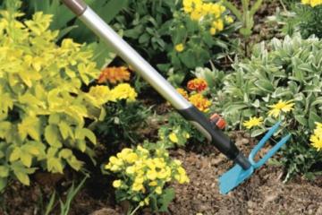 Gardena 3218-20 cs-Gartenhacke, ger. Blatt, 2 Zinken, 7,5 cm breit - 2