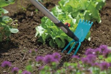 Gardena 3219-20 cs-Gartenhacke, ger. Blatt, 3 Zinken, 9 cm breit - 3