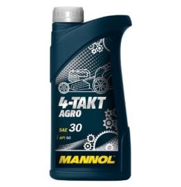 MANNOL Motorenöl 4-TAKT AGRO ~ 1 Liter ~ SAE 30 ~ API SG ~ JASO MA/MA2 ~ Rasenmäher-Öl - 1